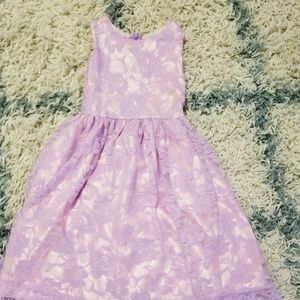 Lavender and Pink overlay dress